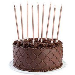 Lier - Verjaardagskaars - Jarig - feest - roségoud - taarttopper - caketopper - feestversiering - versiering
