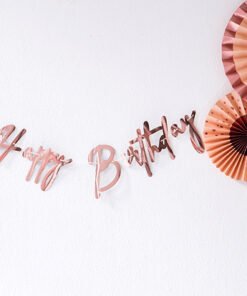 Lier - Verjaardagsslinger - Jarig - feest - roségoud - feestversiering - decoratie - leeftijd - happy birthday - letters