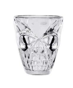Halloween accessoires - Lier - decoratie - versiering - shotglaasje - shotglas - schedel - geraamte