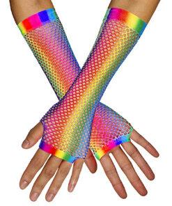 Lier - accessoire - carnaval - neon fluo - fluo kleuren - netstructuur - jaren 90 - kamping kitsch - vingerloos