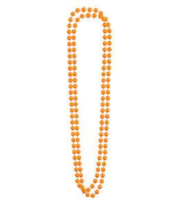 Lier - Carnaval - fluo - orange - parelketting - parels - kralen - jaren 80 - jaren 90 - ketting