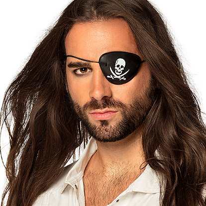 Lier - Carnaval - piraten - themafeest - oogkapje - lapje - ooglap - piratenoog - schedel - skull - piraten