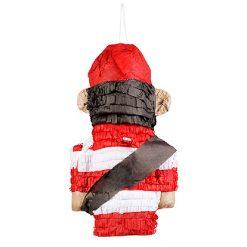 Lier - pinjata - mexico - geluksbrenger - papier maché - gevuld met snoep - cadeau - verjaardag - feest - kleurrijk figuur