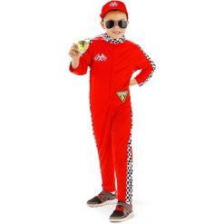 Carnaval kostuum kind - Lier - verkleedkledij kinderen - sport - autosport - onesie - rally piloot - F1 - Cars - Michael Schumacher