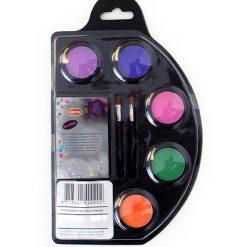Lier - Carnaval - Halloween - grimeren - schminken - verf - maquillage - waterverf - verschillende neon kleuren - fluo dag