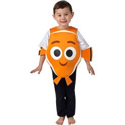Carnaval kostuum kind - Lier - verkleedkledij kinderen - kostuum peuter - kostuum baby - finding nemo - dory - vis - clownsvis