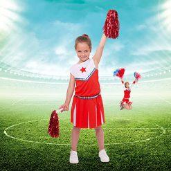 Carnaval kostuum kind - Lier - verkleedkledij kinderen - sport - dansen - supporteren - cheerleaden - pompon - american football