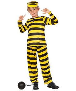 Carnaval kostuum kind - Lier - beroep - verkleedkledij kinderen - boef - gestreept pak - gevangenisbol - daltons - Lucky Luke