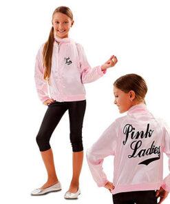 Carnaval kostuum kind - Lier - verkleedkledij kinderen - jacket - Grease - jaren 20 - 20's - Rock & Roll - pink lady - legging meisjes