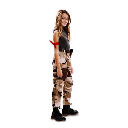 Carnaval kostuum kind - Lier - verkleedkledij kinderen - beroep - army - camouflage - Lara Croft - Tomb Raider - girl