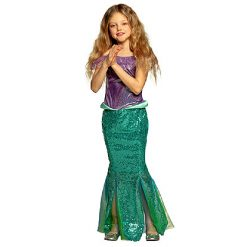 Carnaval kostuum kind - Lier - verkleedkledij kinderen - zee - sea - mermaid - prinses - kleedje - Ariël - princess