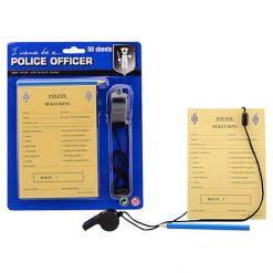 Lier - Carnaval - Beroep - Thema politie - bekeuring uitschrijven - politie officier - boete - invulboekje - fluitje - potlood