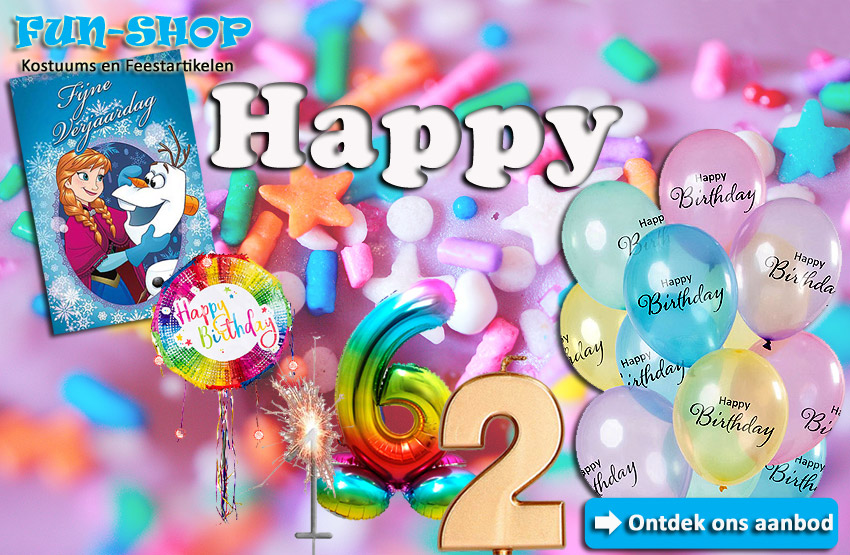Lier - verjaardag - geschenk - ballonnen - wenskaarten - verjaardagskaart - pinata - verjaardagskaars - taart - cadeau