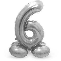 Ballonnen - Lier - feestversiering - decoratie - aankleding - themafeest - cijfers - verjaardag - zilveren jubileum - zilver