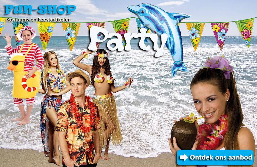 Beach Party - Summer vibes - zomerfestival - verjaardagsfeest - themafeest - hawai - Lier - Verkleedwinkel - decoratie
