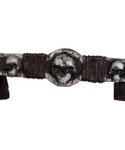Halloween accessoires - Lier - riem - belt - halloweenkostuums - schedels - skulls - zombie - horror - griezelen - griezels