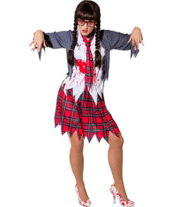Carnaval kostuum volwassenen - Lier - verkleedkledij volwassenen - Halloween - schoolgirl - horror - schoolmeisje - freak