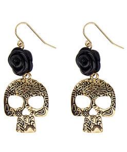 Lier - Carnaval - Halloween - sieraad - oorhangers - schedels - skull - skelet - piraten - day of the dead - dia de los muertos