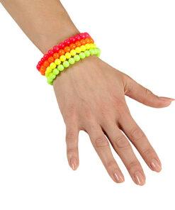 Lier - Carnaval - sieraad - armband - kamping kitsch - fluo party - neon fluo - fluo dag - roze - oranje - geel - groen - 90's