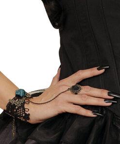 Lier - Carnaval - Halloween - sieraad - armband - day of the dead - dia de los muertos - gothic - gosplay - cross - priester