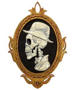 Halloween Decoratie - Lier - sprekende decoratie - spooky - griezel - fotokader - schedel - skull - oplichtende ogen - beweging