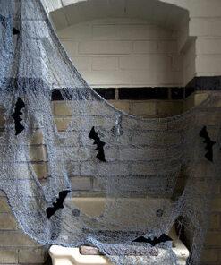 Halloween Decoratie - Lier - wanddecoratie - decoratiestof - stoffen - tafelkleed - decor - vleermuis - aankleding halloween
