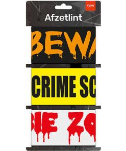 Lier - Carnaval - Halloween - Maffia - politie - plaats delict - do not cross - crime scene - verboden toegang - decoratielint