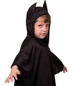 Carnaval kostuum kind - Lier - verkleedkledij kinderen - Halloween - vleermuis - cape - poncho - griezelig - bat - batman