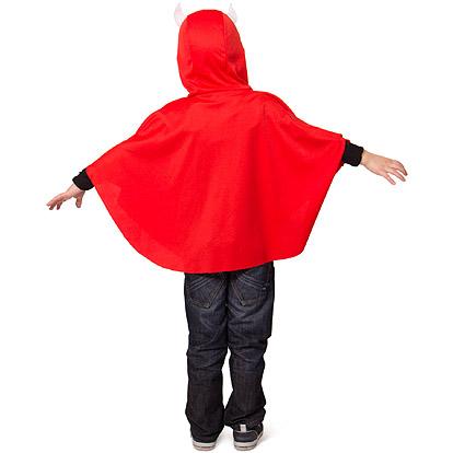 Carnaval kostuum kind - Lier - verkleedkledij kinderen - Halloween - duivel - cape - poncho - griezelig - rode duivel