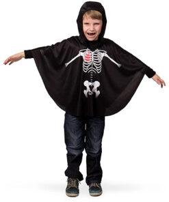 Carnaval kostuum kind - Lier - verkleedkledij kinderen - Halloween - cape - skelet - geraamte - day of the dead - bones - botten