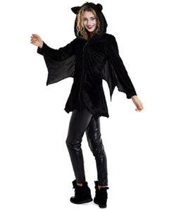 Carnaval kostuum volwassenen - Lier - verkleedkledij volwassenen - Halloween - vleermuis - batman - batgirl - bat - vest - jasje