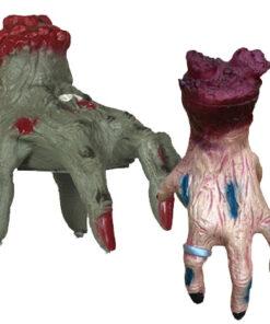 Halloween Decoratie - Lier - tafeldecoratie - griezel - zombie - decor - decoratie - bewegende hand - wandelende hand