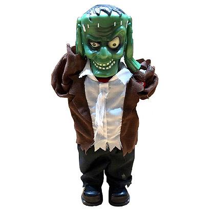 Halloween Decoratie - Lier - tafeldecoratie - hoofd omhoog - omhoog schietende kop - bewegende zombie - griezel - Frankenstein