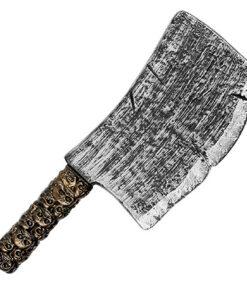 Halloween accessoires - Lier - decoratie - versiering - axe - keukenbijl - horror - griezel - bloed - killer - carnaval - vleesmes - knife