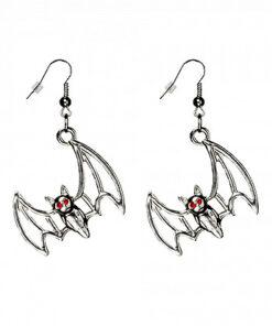 Halloween accessoires - Lier - sieraad - sieraden - dia de los muertos - carnaval - vleermuizen - bat - bats - batman - oorbel