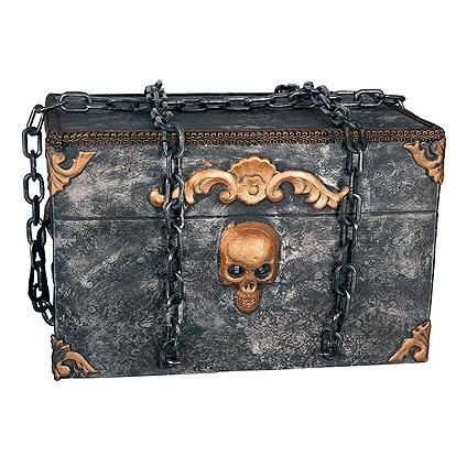Halloween Decoratie - Lier - piraten - schatkist - kapotte kist - escape - lichtgevende kist - griezelig geluid