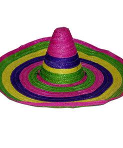 Lier - Fun-Shop - Carnaval - Mexicaan - Mexico - sombrero - verkleedkledij volwassenen - themafeest - gekleurde hoed - verkleedkostuum