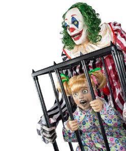 Halloween Decoratie - Lier - decoratie - IT - enge clowns - jumping clown - circus - Carnaval - Fun-Shop - bewegende decoratie